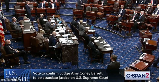 Voting under way: The final minutes before Amy Coney Barrett was confirmed to be the ninth justice of the Supreme Court