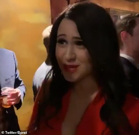 The actress is seen in the promo clip speaking to Donald Trump Jr.