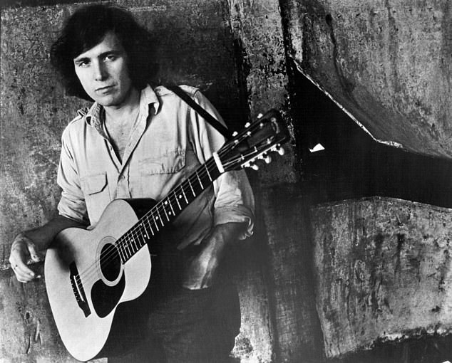 Don, who has made about $150 million over the course of his 50-year career, said his hit song American Pie is a fusion of genres. Pictured: Don in 1970s