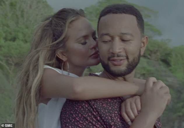 Big news: The couple previously announced their pregnancyin John's Wild music video, which dropped in August