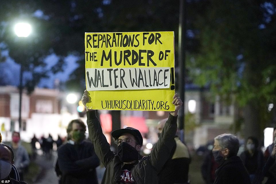 Wallace was shot before 4 p.m. Monday in an episode filmed by a bystander and posted on social media. Witnesses complained that police fired excessive shots. Officers said they found Wallace holding a knife and ordered him to drop the weapon several times. Wallace advanced toward the officers, who fired several times, said a police spokesperson
