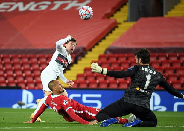 Alisson made a vital save from Anders Dreyer early on