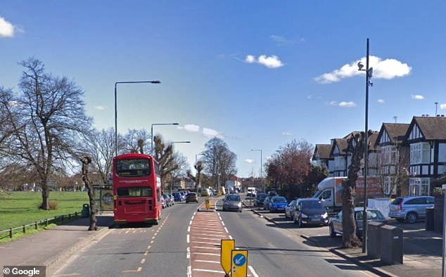 Sanders was living with her Lithuanian lover in a flat on this road in Mitcham, South London
