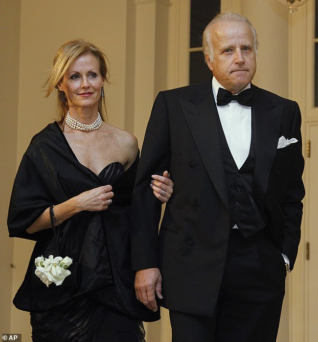 Jim Biden (pictured with wife Sara) formed a company with his nephew Hunter to work on infrastructure