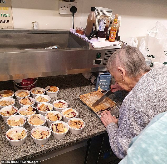 The great-great-grandmother of fiverallied to the Manchester United player's calls and has made as many as 20 pies a day