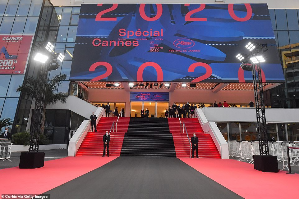 General view of the Black Carpet to pay tribute to victims of the attack in Nice at the Cannes Festival