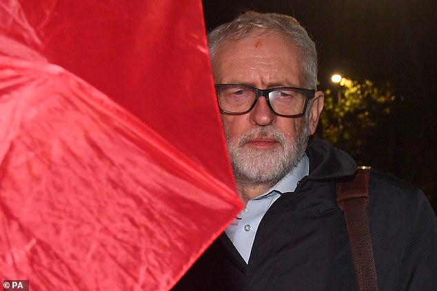 Mr Corbyn caused uproar when he said the scale of anti-Semitism had been 'dramatically overstated for political reasons'