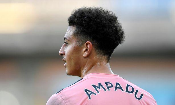 Ethan Ampadu playing for Sheffield United
