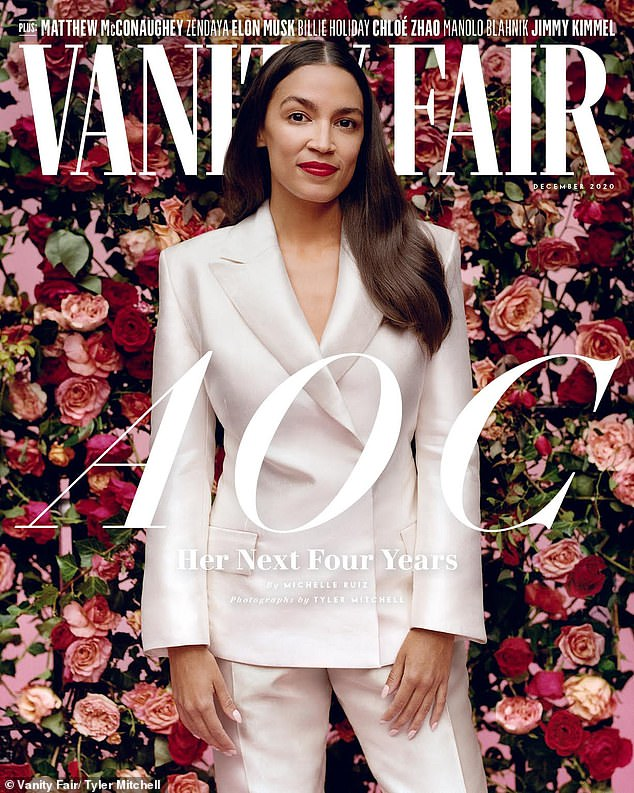 AOC says she DIDNT keep pricy designer clothes from Vanity Fair shoot as she slams criticism