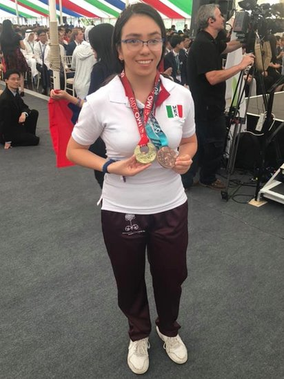 Ana Paula with her medals