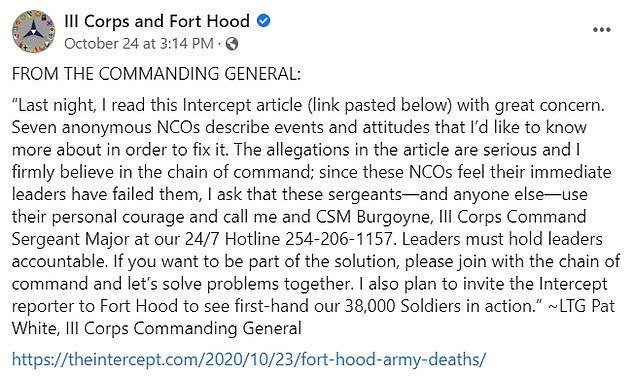 Anonymous sergeants detail 'toxic leadership culture' at Fort Hood