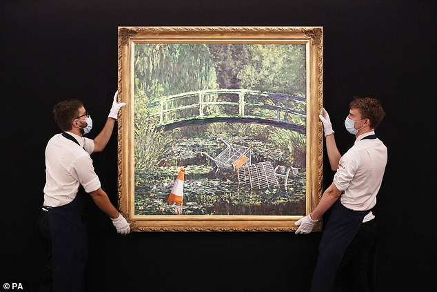 Banksy art work parodying a Claude Monet masterpiece sells for £7m at auction