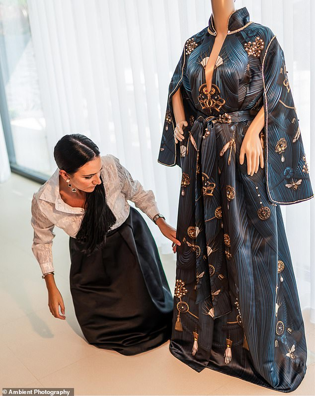 A billionaire birthday girl celebrated her 40th with an lavish virtual party costing £21.5million.The Lebanese woman, who has not been named, wore a £20.1million cape, pictured, inspired by a modern day Middle Eastern abaya dress and dripping in diamonds