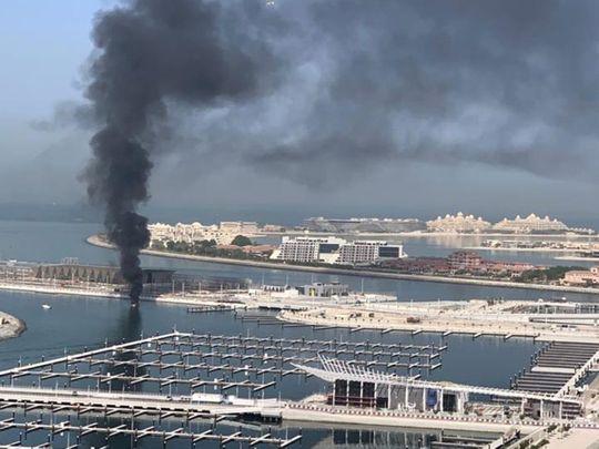 Boat catches fire near Dubai's Jumeriah Beach Residence