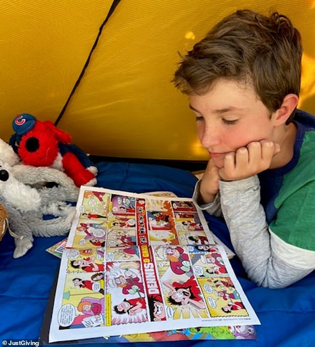 Boy, 10, raises £60,000 for local hospice after sleeping outside in a tent for more than 200 days