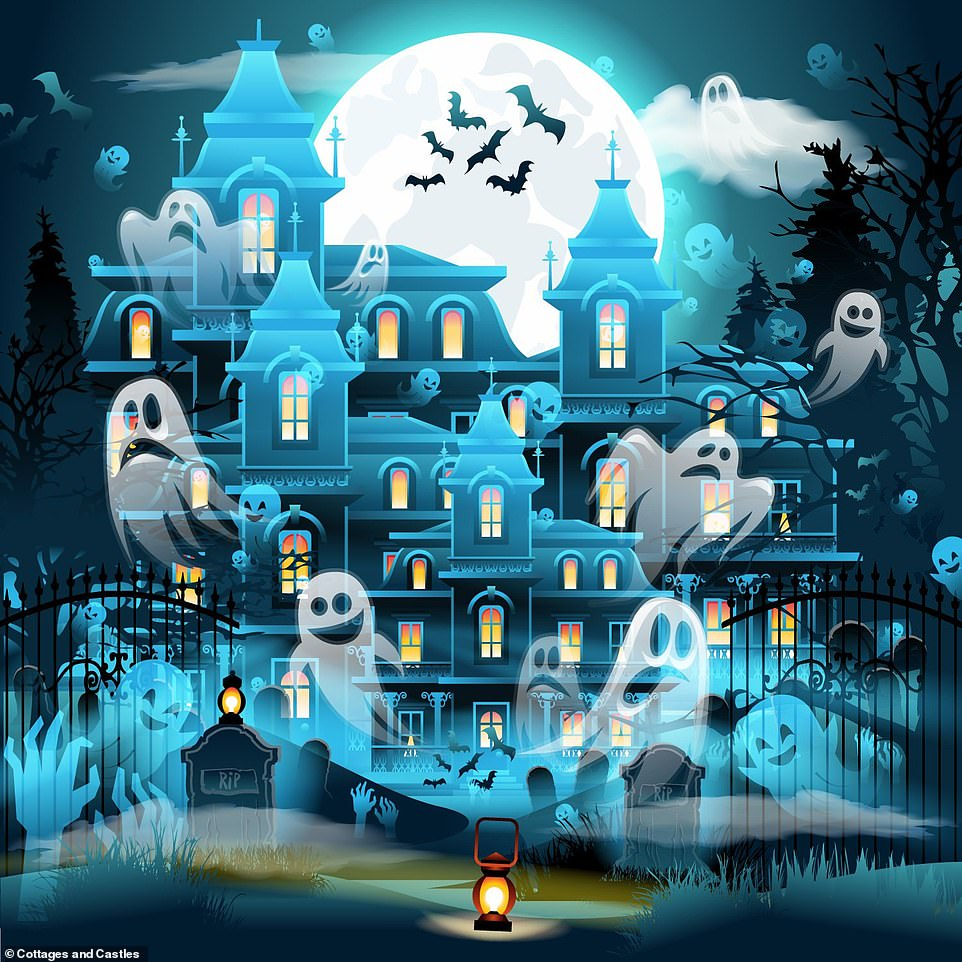 Can YOU spot the evil ghost among the ghouls? Puzzle puts your perception skills to the test