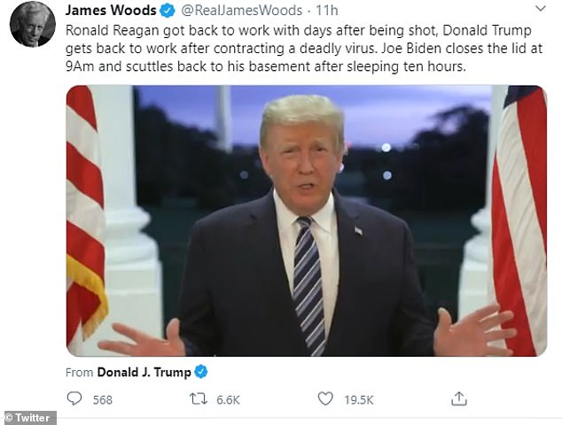 Chris Evans and Mandy Moore criticise Trump for saying 'don't be afraid of COVID'
