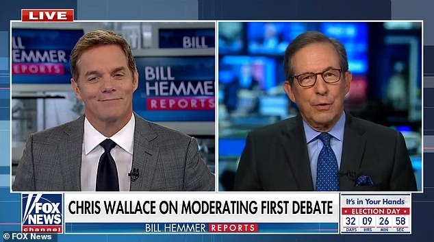 Chris Wallace says Trump 'bears the primary responsibility' for the chaotic first debate in Ohio