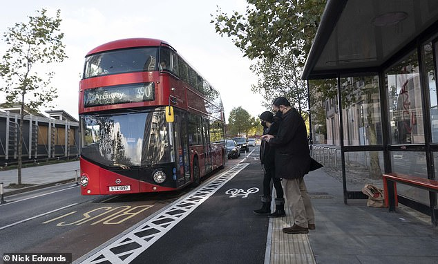 Council blasted for installing 'crazy' cycle lane which runs right through bus stop