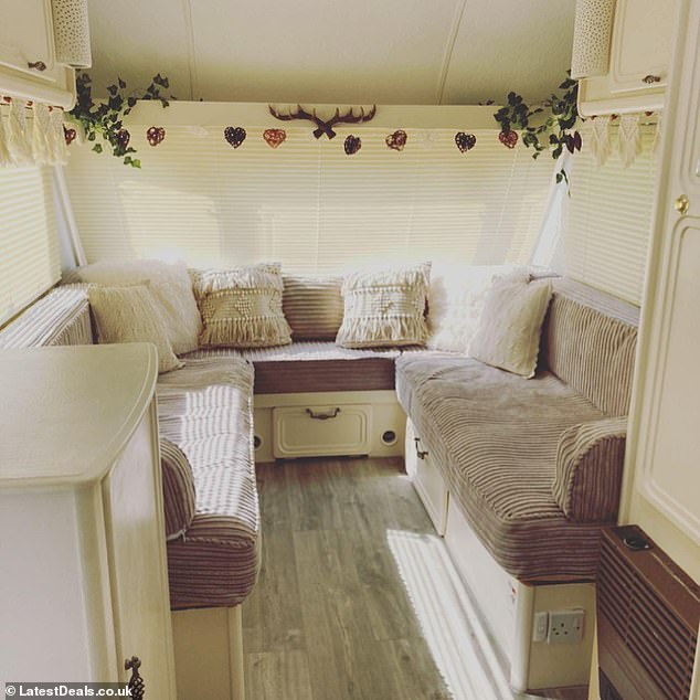 Couple reveal how they gave a 25-year-old caravan a new lease of life