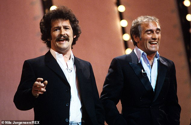 In their heyday, comedy duo Bobby Ball (left) and Tommy Cannon (right) were bringing home £200,000 a month. The pair had met in the 1960s while working as tractor welders
