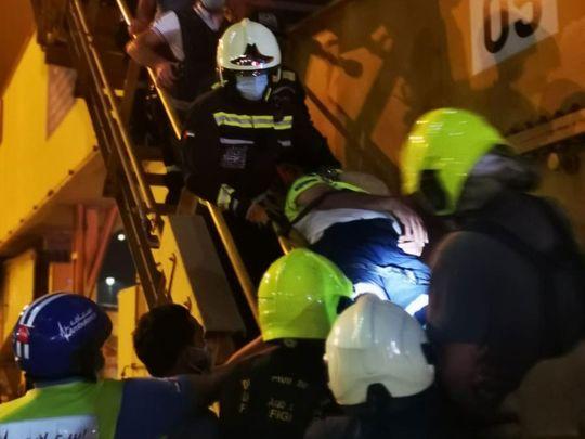 Daring rescue buy Dubai Police as crane operator suffers heart attack mid-air in Jebel Ali Port
