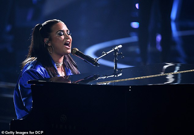 Anti-Trump anthem: Demi Lovato sang her unapologetic call-out of US president Donald Trump for the first time on Wednesday night at the 2020 Billboard Music Awards