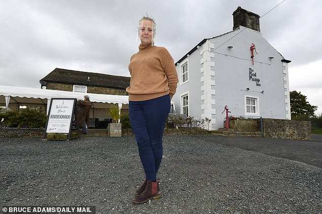 Proprietor Frances Gledhill of the Red Pump inn, near Whitewell, Lancashire.Pubs and bars in the Manchester and Lancashire regions are to be placed into Covid-19 alert level tier 3