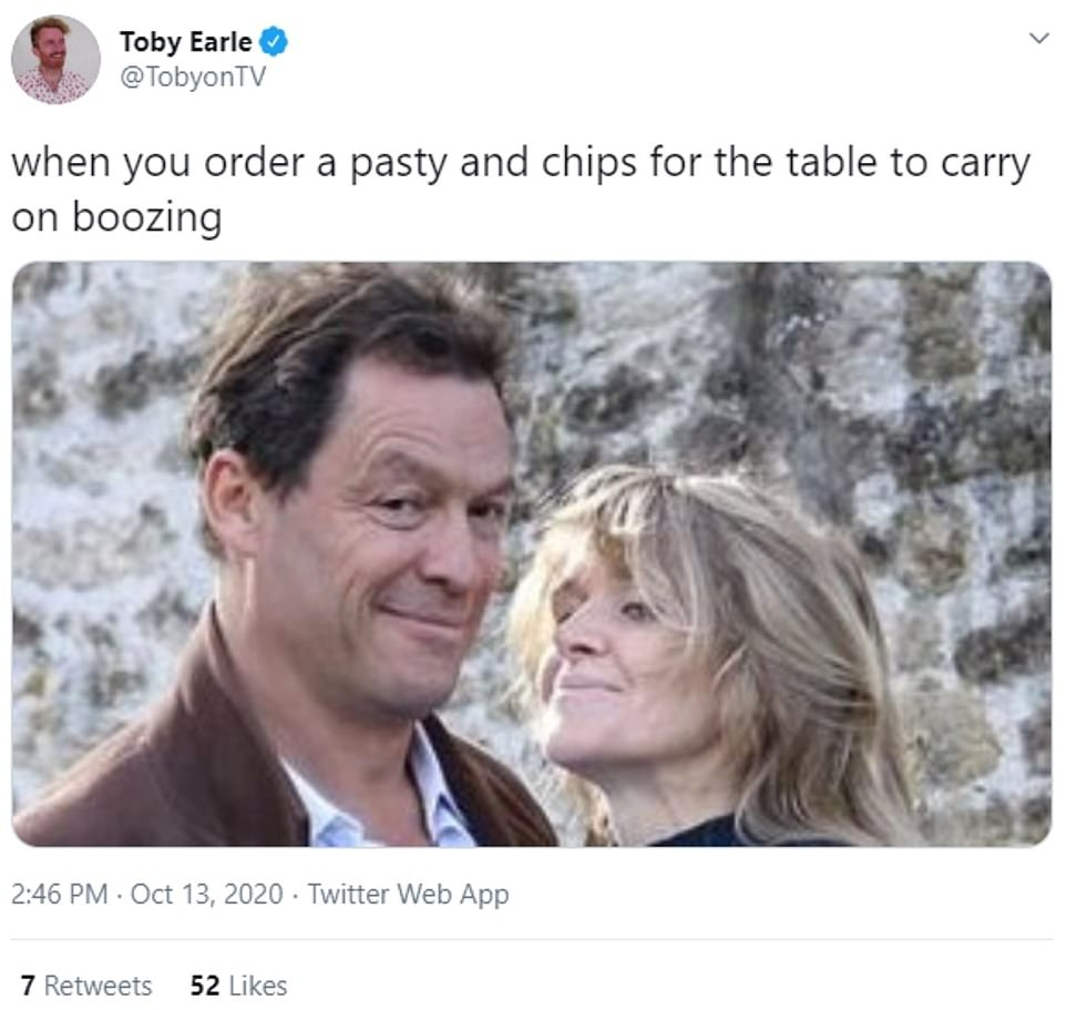 Dominic West becomes a viral meme after THAT smug photo kissing wife after Lily James drama
