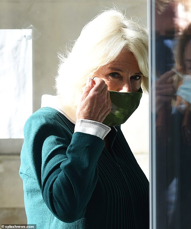 Duchess of Cornwall is a vision in green as she visits Maggie's Barts at St Bartholomew's Hospital