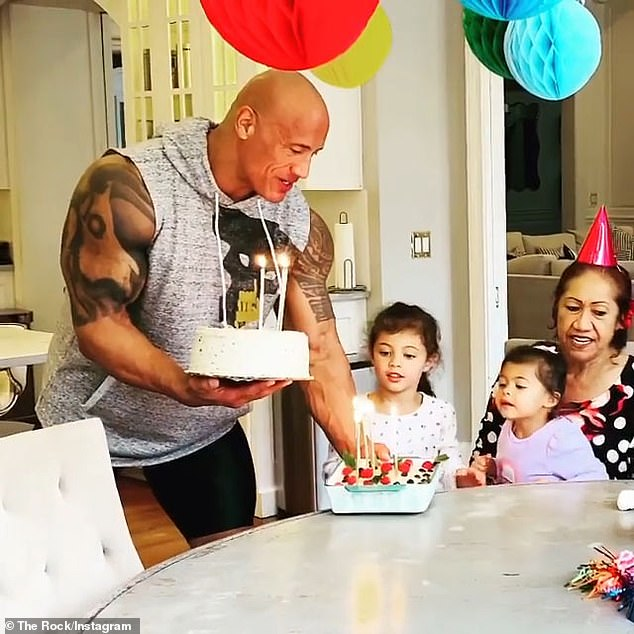'Mama Rock': Retired WWE wrestler Dwayne 'The Rock' Johnson and his family celebrated his mother Ata's 72nd birthday with two different cakes over the weekend