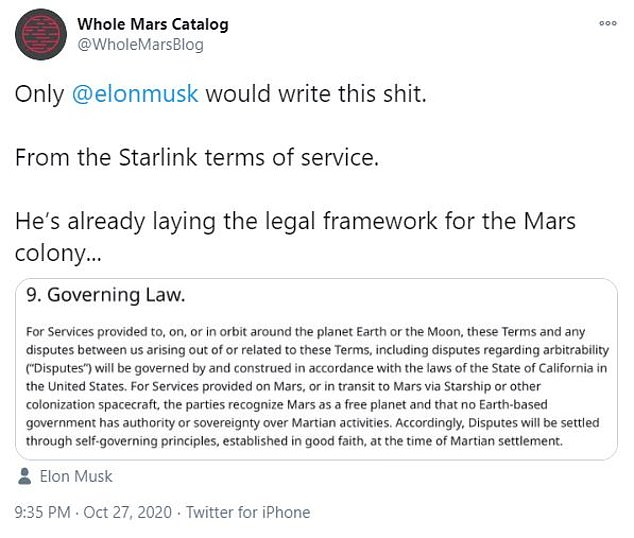 Elon Musk says SpaceX Mars colony will NOT recognize Earth laws