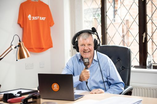 *** FREE FOR EDITORIAL USE *** Just Eat have announced that commentary legend Clive Tyldesley is the official commentator of Just Eat. Customers can send in a video of them plating up their takeaway on Saturday 3rd October for a chance to have it commentated by Clive Tyldesley.