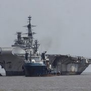 Falklands flagship HMS Hermes reaches final destination where she will be turned into scrap metal