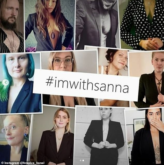 Finland's prime minister Sanna Marin is criticised for wearing blazer with a plunging neckline