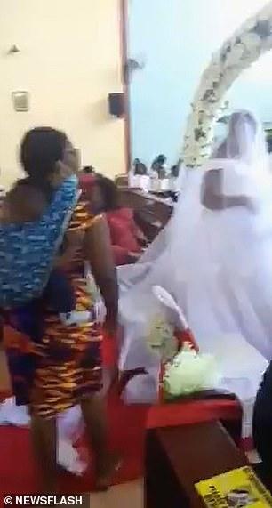 Furious wife storms church wedding in Zambia