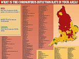 Heat map reveals the 200 towns and cities with high Covid-19 infection rates