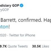House Judiciary committee trolls Hillary by saying Happy Birthday after Amy Coney Barrett confirmed
