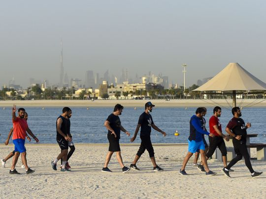 How can I enjoy the outdoors in the UAE while staying safe from COVID-19?