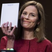 Internet pokes fun at unflappable Amy Coney Barrett's blank piece of paper with memes