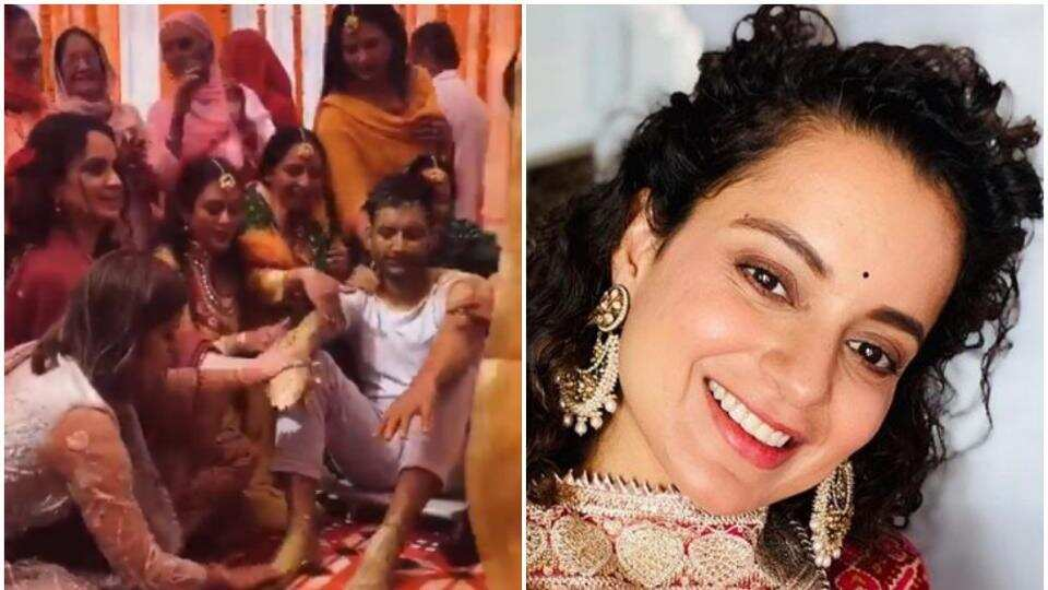 Kangana Ranaut shares inside pics and video of brother's haldi ceremony, shares her gorgeous look for the event