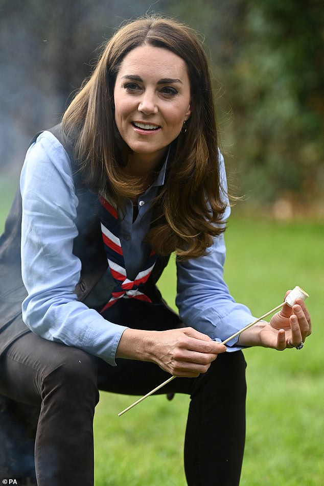 Kate Middleton reveals Prince George is currently learning about volcanoesat school