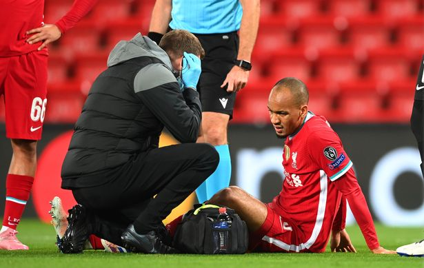 Fabinho became the latest defensive casualty for Liverpool