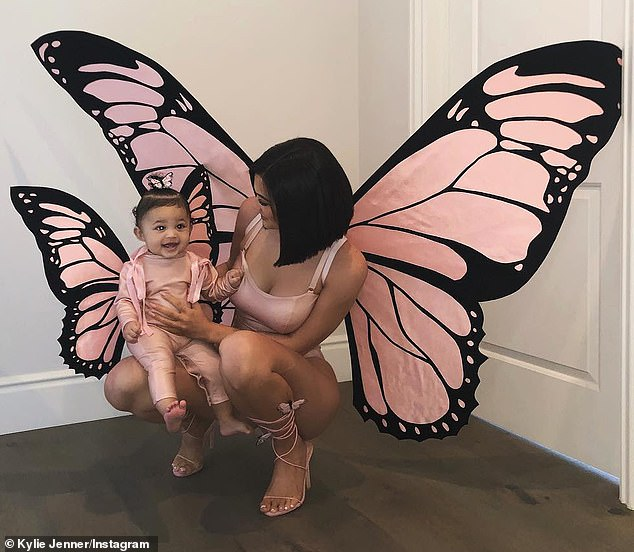 Kylie Jenner dressed as butterfly to symbolize love for Travis Scott