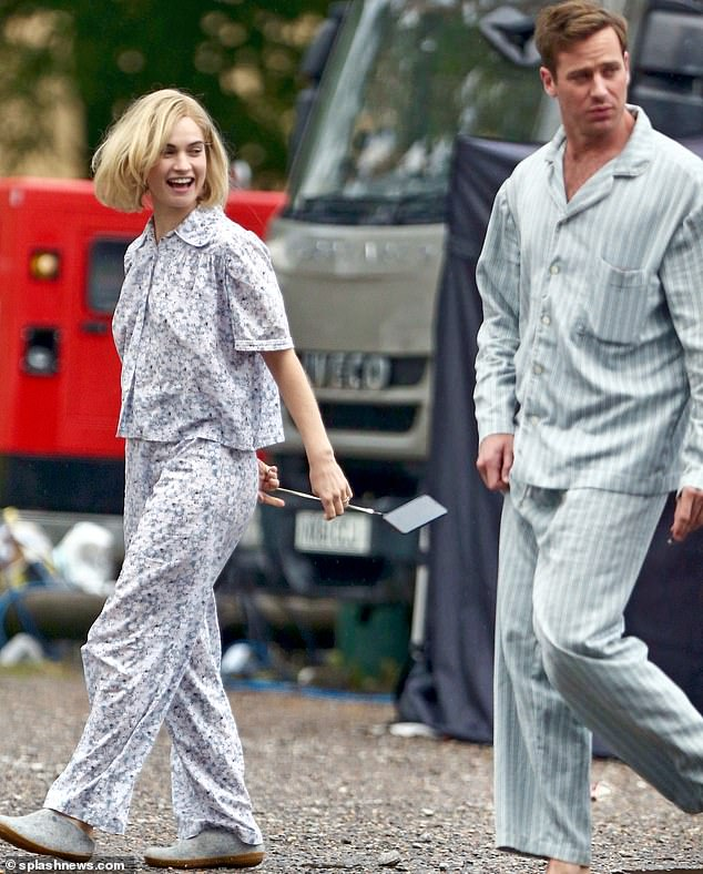 Lily James had a flirtation with ANOTHER married man, Rebecca co-star Armie Hammer