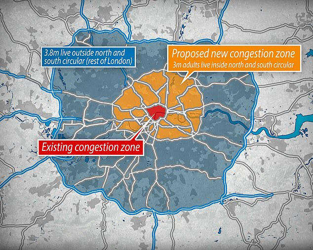 Londoners could face £27.50 daily congestion charge under Government bailout of TfL