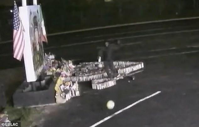 Man is caught on surveillance video destroying Vanessa Guillen memorial