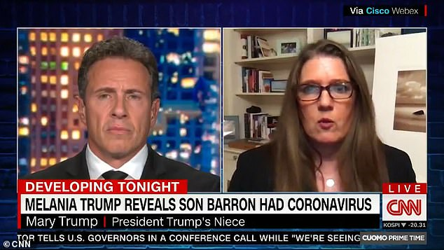 Mary Trump tells Chris Cuomo that Barron was 'put in a dangerous situation by his parents'