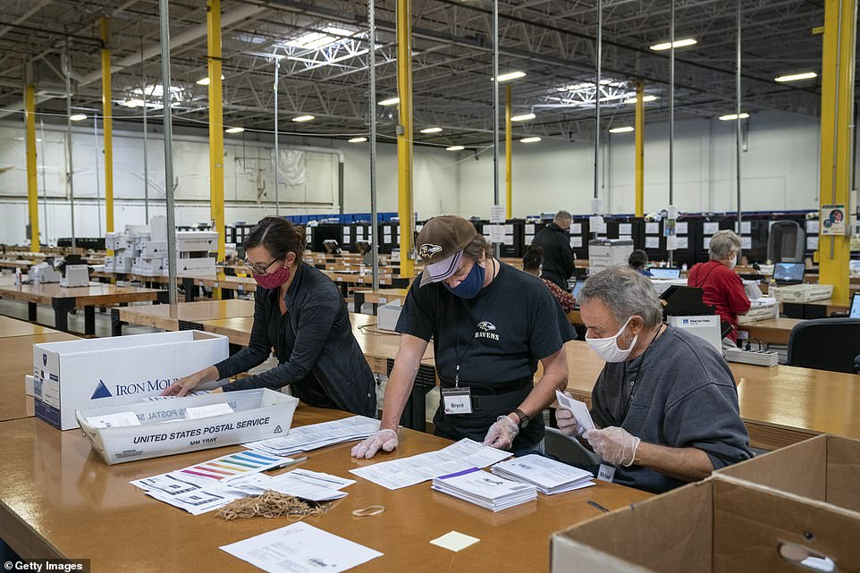 Maryland starts counting mail-in ballots as bipartisan pairs send votes through a five step process