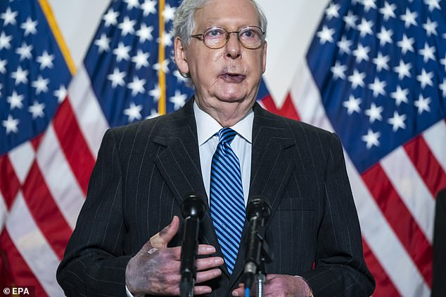 Mitch McConnell DENIES he has any health problems amid speculation over why his hands are bruised
